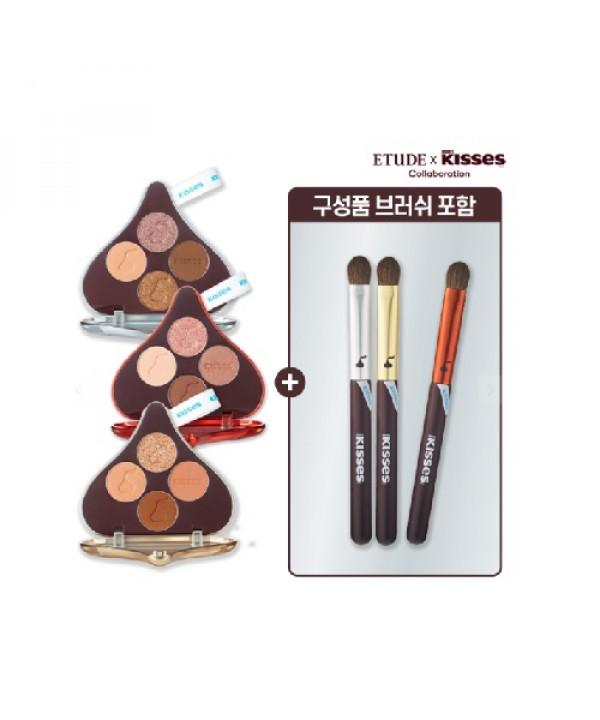 [Request] ETUDE HOUSE  Play Color Eyes Hershey's Kisses Brush Kit - 4.8g + Brush 1ea