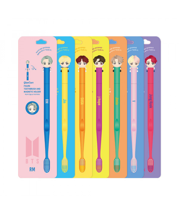 [SANGSANG] BTS Figure Toothbrush And Magnetic Holder - 1pack (2items)