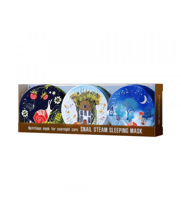 [SEANTREE] Snail Steam Sleeping Mask 3 In 1 Set - 1pack (35g x 3pcs)