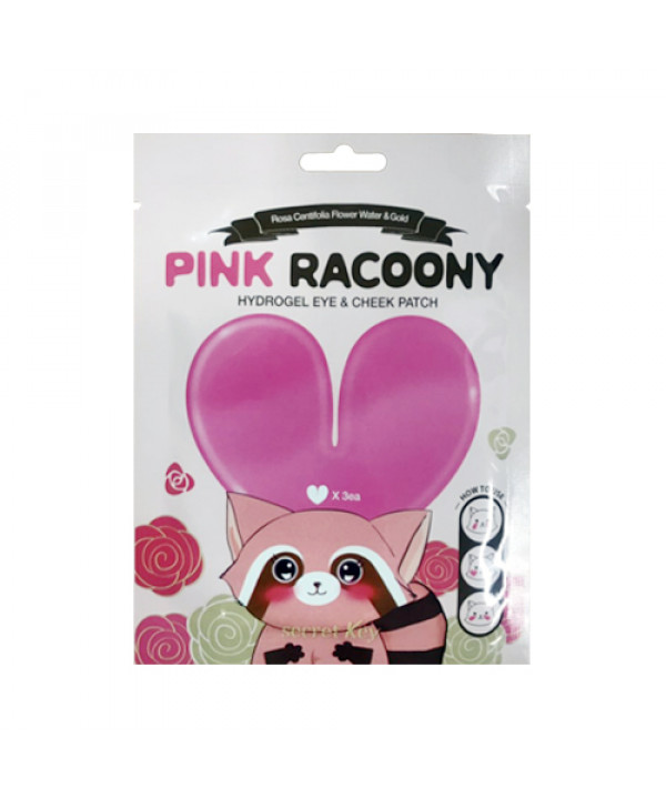 [Secret Key] Pink Racoony Hydrogel Eye Cheek Patch - 1pack (3uses)