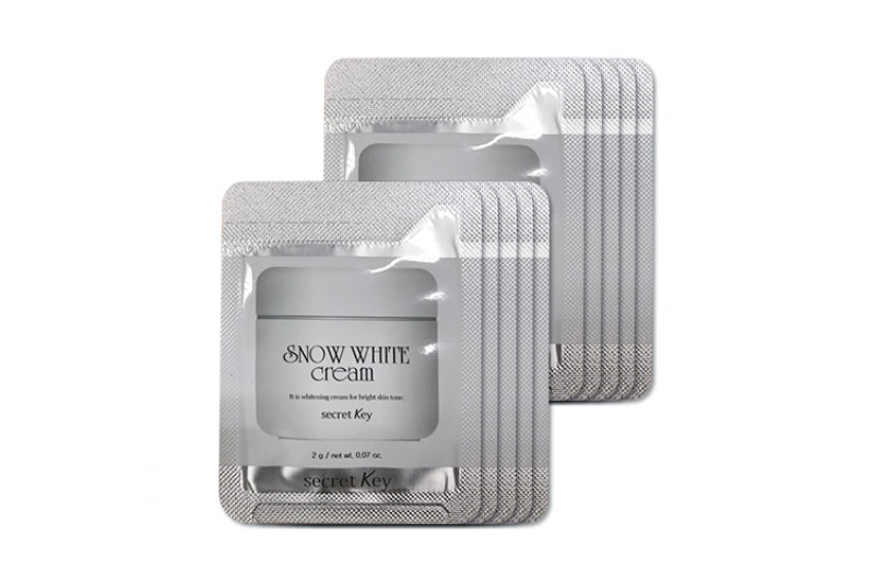[Secret Key_Sample] Snow White Cream Samples - 10pcs