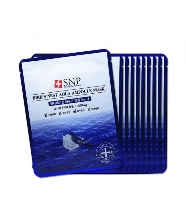 [SNP] Birds Nest Aqua Ampoule Mask - 1pack (25ml x 10pcs)