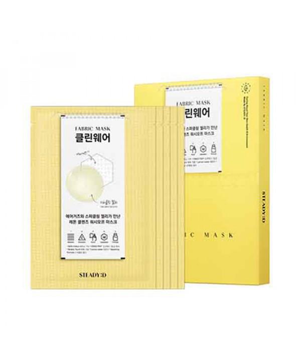 [STEADY:D] Fabric Mask - 1pack (5pcs) No.Clean Wear Air Gauze