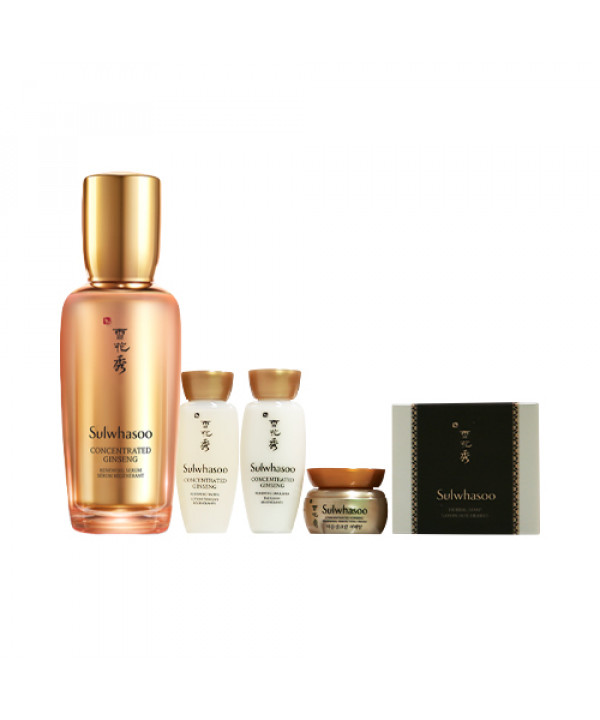 [Sulwhasoo] Concentrated Ginseng Renewing Serum Set - 1pack (5items)