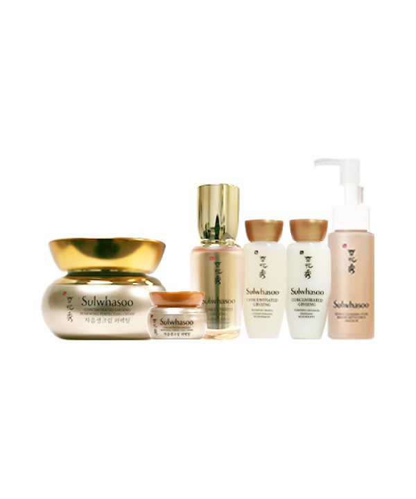 [Sulwhasoo] Concentrated Ginseng Renewing Perfecting Cream Set (2021) - 1pack (6items)