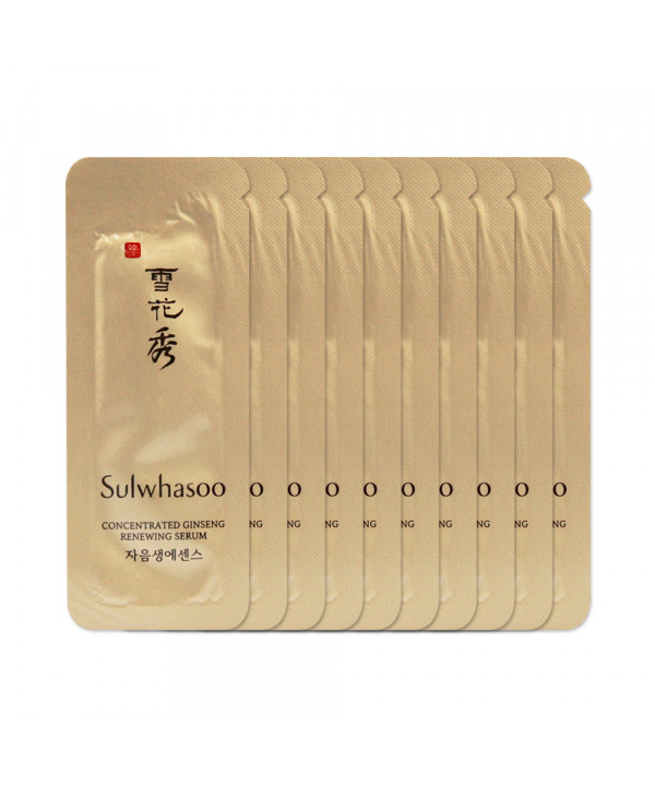 [Sulwhasoo_Sample] Concentrated Ginseng Renewing Serum Samples - 10pcs