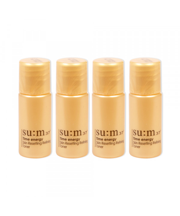 [Sum37_Sample] Time Energy Skin Resetting Refining Toner Samples - 4ea