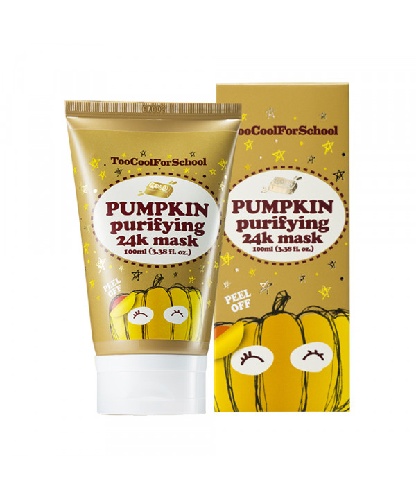 W-[TOO COOL FOR SCHOOL] Pumpkin Purifying 24K Mask - 100ml x 10ea