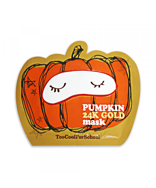 [TOO COOL FOR SCHOOL] Pumpkin 24k Gold Mask - 1pcs