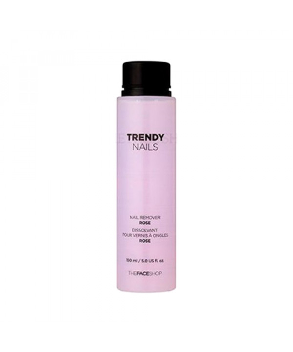 [THE FACE SHOP] Trendy Nails Nail Color Remover.- 150ml No.01 Rose