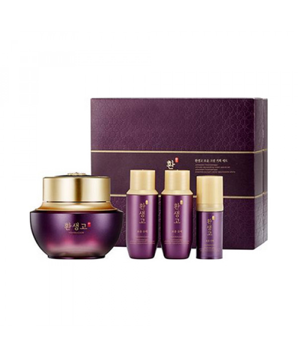 [THE FACE SHOP] Yehwadam Hwansaenggo Ultimate Rejuvenating Cream Set - 1pack (4items)