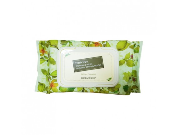 [THE FACE SHOP] Herb Day Cleansing Tissue - 1pack (70pcs)