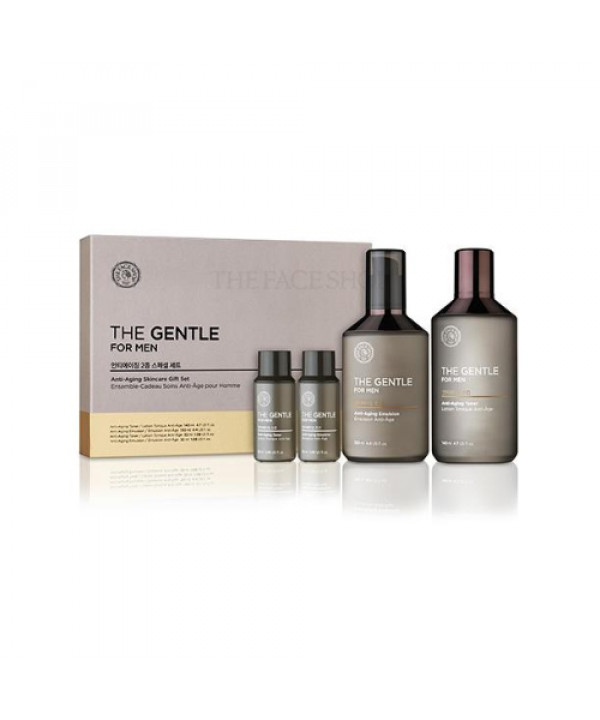 [THE FACE SHOP_50% SALE] The Gentle For Men Anti Aging Skincare Gift Set - 1pack (4pcs)