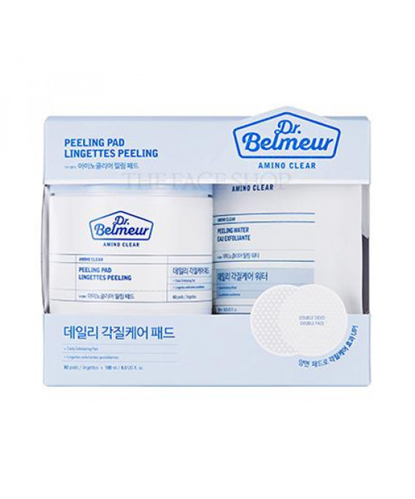 [THE FACE SHOP] Dr.Belmeur Amino Clear Peeling Pad - 1pack (60pcs+180ml)