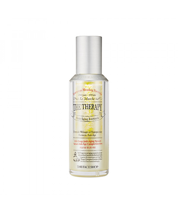 [THE FACE SHOP] The Therapy Oil Drop Anti Aging Facial Serum - 45ml