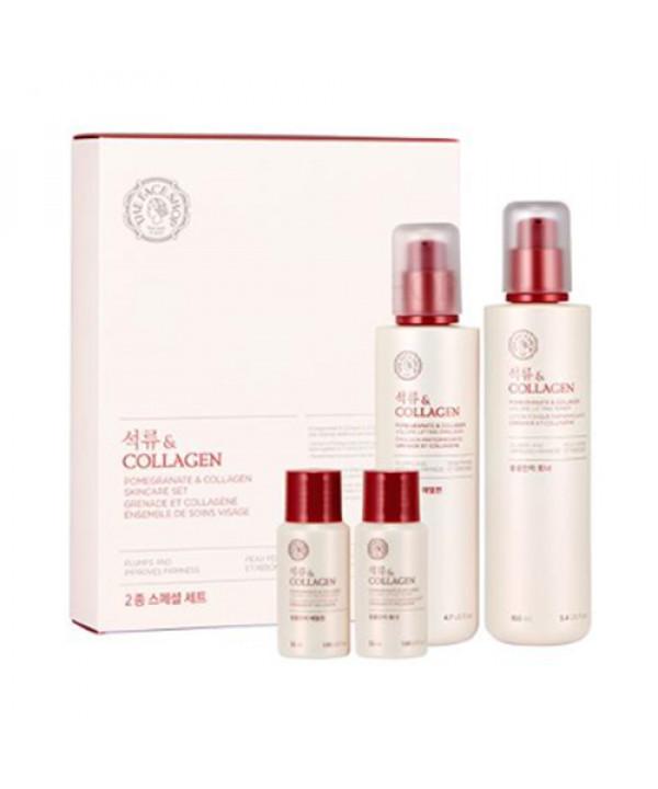 W-[THE FACE SHOP] Pomegranate & Collagen Skincare Set - 1pack (4items) x 10ea