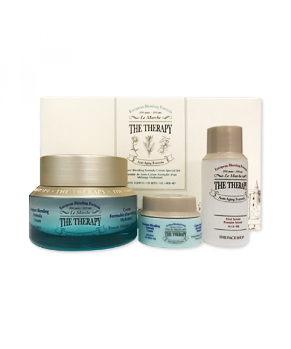 [THE FACE SHOP] The Therapy Moisture Blending Formula Cream Special Set - 1pack (3items)