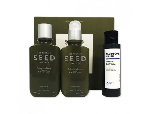 [THE FACE SHOP] Seed For Men Refreshing Skincare Set - 1pack (3items)