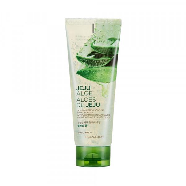 [THE FACE SHOP] Jeju Aloe Fresh Soothing Foam Cleanser - 150ml