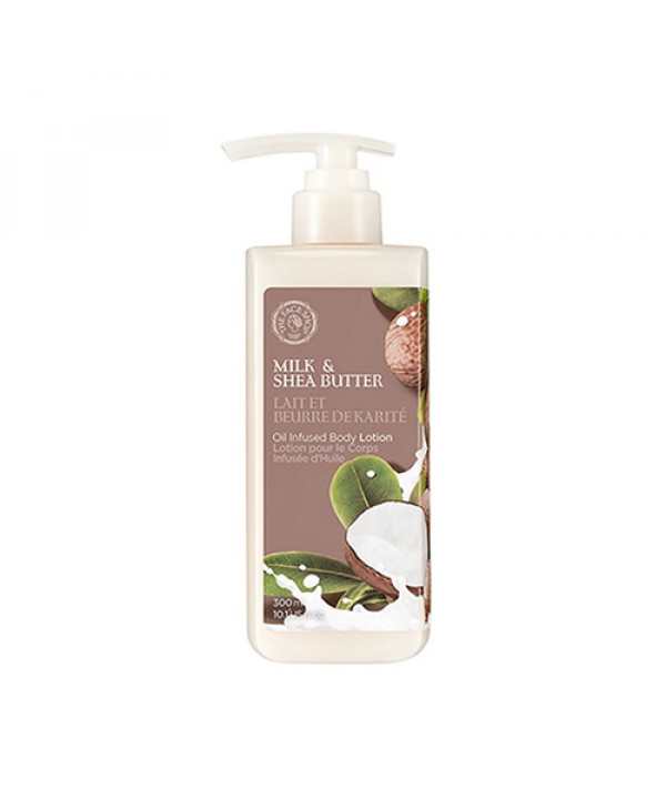 [THE FACE SHOP] Milk And Shea Butter Oil Infused Body Lotion - 300ml