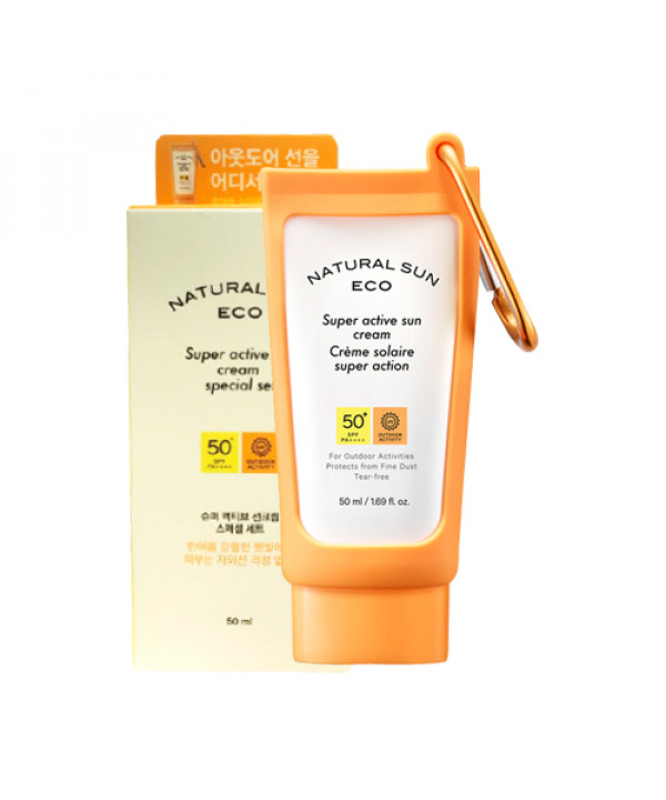 [THE FACE SHOP] Natural Sun Eco Super Active Sun Cream Special Set - 1pack (2items)