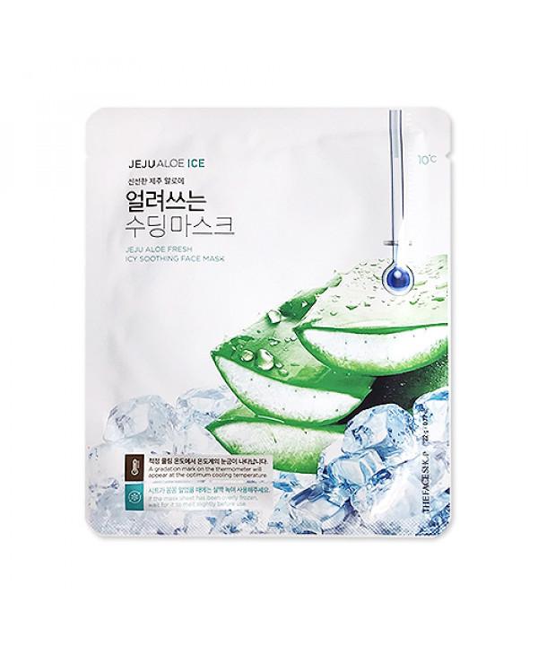[THE FACE SHOP] Jeju Aloe Fresh Icy Soothing Face Mask - 1pcs