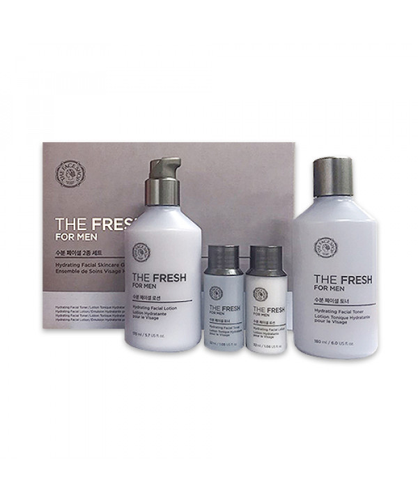 W-[THE FACE SHOP] The Fresh For Men Hydrating Facial Skincare Set (2020) - 1pack (4items) x 10ea