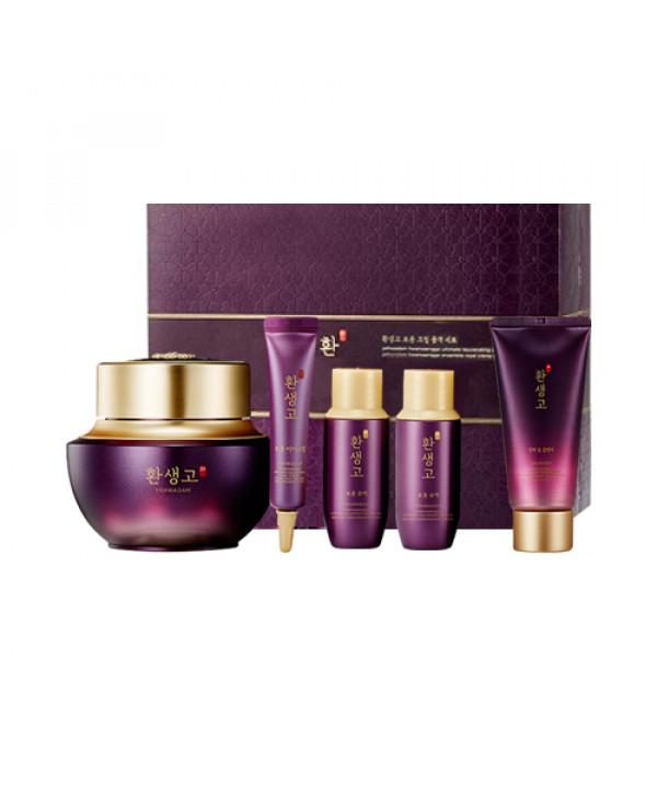 [THE FACE SHOP] Yehwadam Hwansaenggo Ultimate Rejuvenating Cream Royal Set - 1pack (5items)