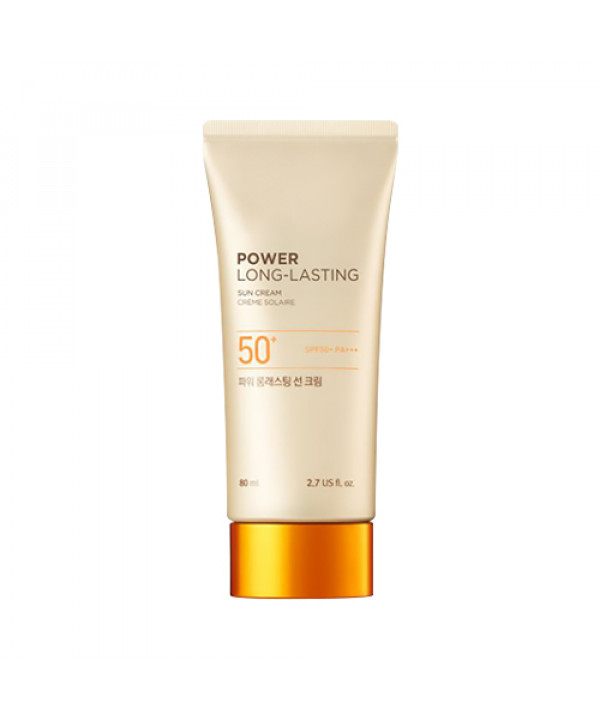 [THE FACE SHOP_50% SALE] Power Long Lasting Sun Cream (Jumbo Size) - 80ml (SPF50+ PA+++)