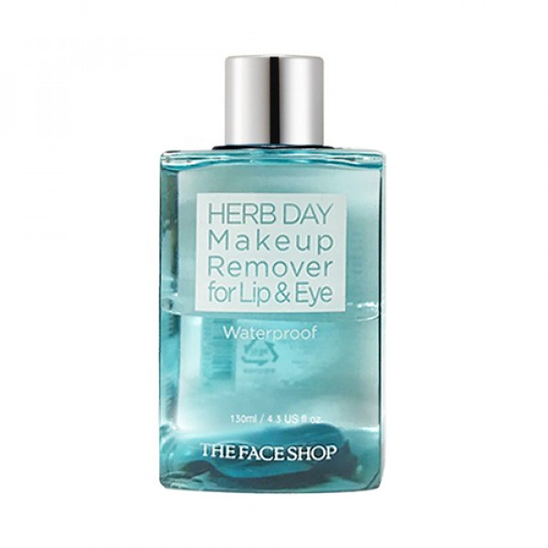 [THE FACE SHOP] Herb Day Lip & Eye Makeup Remover (2020) - 130ml No.Waterproof