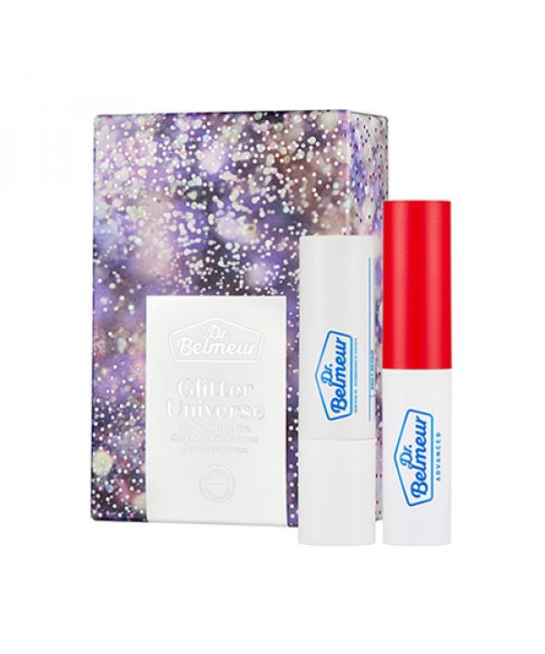 [THE FACE SHOP_50% SALE] Glitter Universe Dr.Belmeur Lip Balm Duo Set - 1pack (2items)