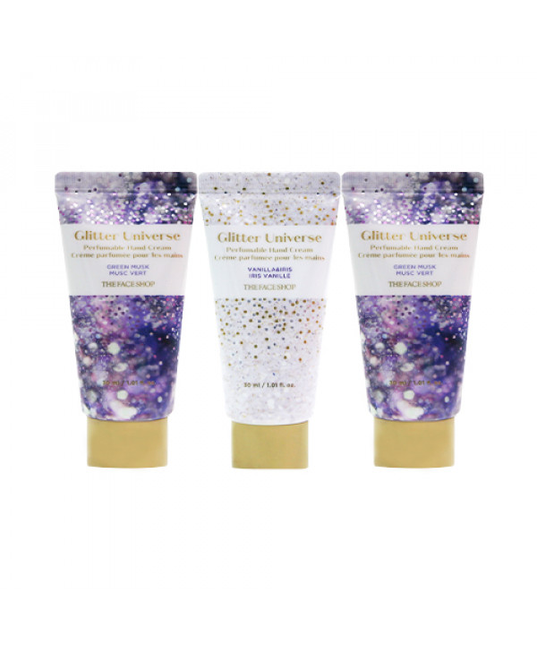 [THE FACE SHOP] Glitter Universe Holiday Perfumable Hand Cream Trio - 1pack (3items)