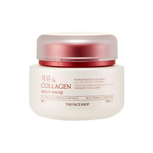 [THE FACE SHOP] Pomegranate & Collagen Volume Lifting Eye Cream (2021) - 50ml