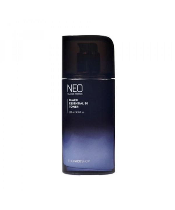 W-[THE FACE SHOP] Neo Classic Homme Black Essential 80 Toner - 130ml x 10ea