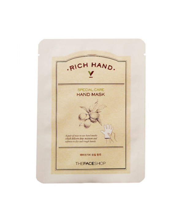 [THE FACE SHOP] Rich Hand V Special Care Hand Mask - 1pack (2pcs)