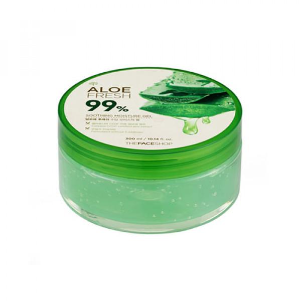 W-[THE FACE SHOP] Aloe Fresh 99% Soothing Moisture Gel - 300ml  x 10ea