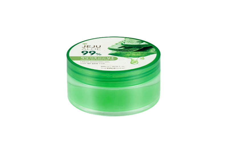 [THE FACE SHOP] Fresh Jeju Aloe 99% Soothing Gel - 300ml