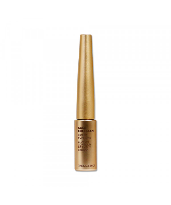 [THE FACE SHOP] Gold Collagen Liquid Eyeliner - 6g No.01 Black