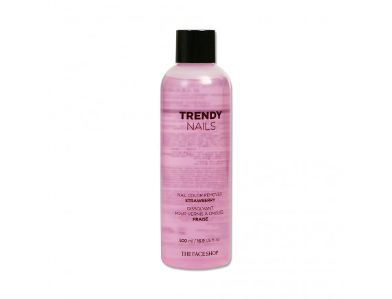 [THE FACE SHOP] Trendy Nails Nail Color Remover - 500ml No.01 Strawberry
