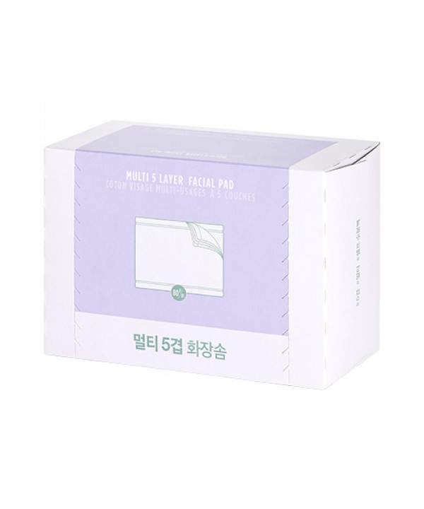[THE FACE SHOP] Daily Beauty Tools Multi 5 Layer Facial Pad - 1pack (80pcs)