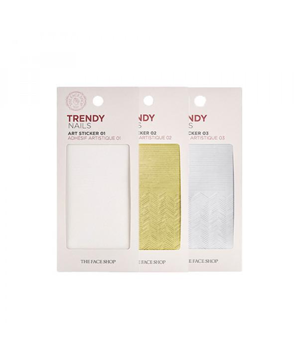 [THE FACE SHOP] Trendy Nails Art Sticker (#01~03) - 1pcs