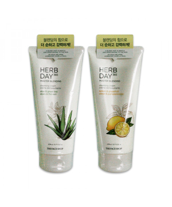W-[THE FACE SHOP] Herb Day 365 Master Blending Cleansing Cream - 170ml x 10ea