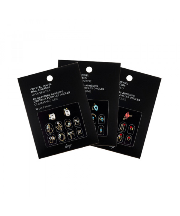 W-[THE FACE SHOP] Crystal Jewel Nail Stickers - 1pack (10pcs) x 10ea