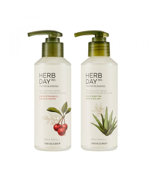 [THE FACE SHOP] Herb Day 365 Master Blending Foaming Pump Cleanser - 215ml