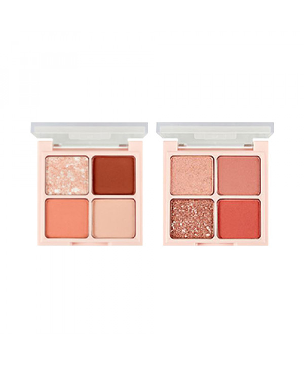 W-[THE FACE SHOP] Quad Eyeshadow Palette (Rosy Nude Edition) - 4.8g x 10ea