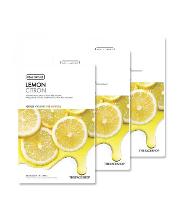 [THE FACE SHOP_Sample] Real Nature Lemon Face Mask Samples - 3pcs