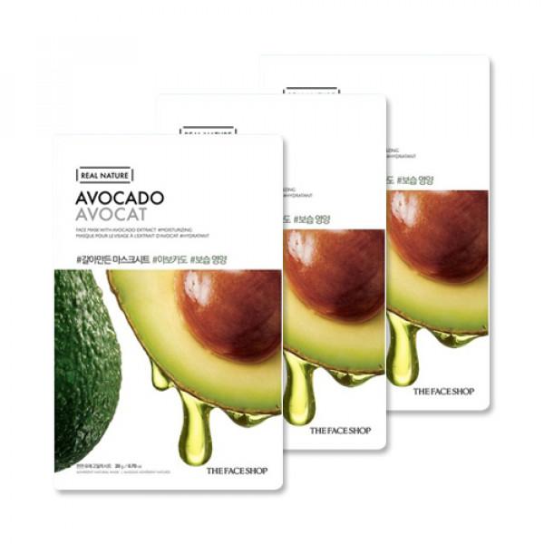 [THE FACE SHOP_Sample] Real Nature Avocado Face Mask Samples - 3pcs