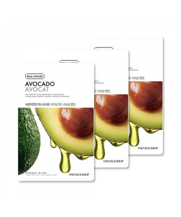 [THE FACE SHOP_Sample] Real Nature Avocado Face Mask Samples - 3pcs