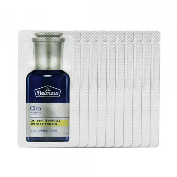 [THE FACE SHOP_Sample] Dr. Belmeur Cica Peptite Ampoule Samples - 10pcs