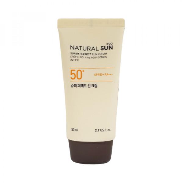[THE FACE SHOP_Sample] Natural Sun Eco Super Perfect Sun Cream Sample - 80ml (SPF50+ PA+++)